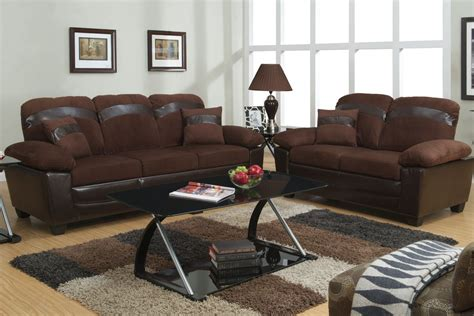 Brown Leather Sofa And Loveseat Set Poundex Gabe F7572 Brown Leather Sofa And Loveseat Set With Storage A Sofa Furniture