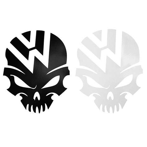 Logo 1pcs 1pcs Reflective Car Sticker For Vw Logo Skull Fusca Golf