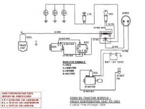 1949 8n ford 8n tractor wiring front distributor 1947 to 1951 ford 8n wiring diagram