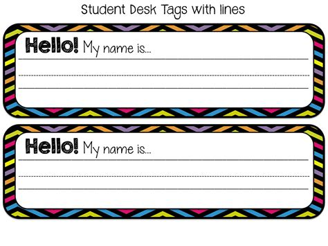 Student Desk Name Tags Hostgarcia Student Desk Name Tags