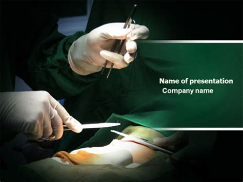 templates powerpoint surgery surgical incision presentation template for powerpoint and