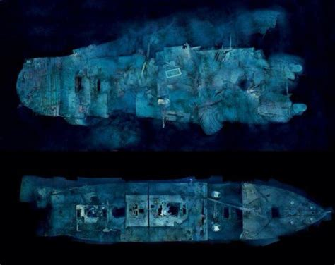 boat sinking go fund me titanic wreck stern section and bow section titanic