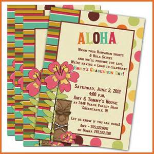 luau graduation invitations set of 20 personalized invitations graduation invitations