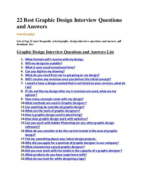 layout questions and answers 22 best graphic design interview questions and answers