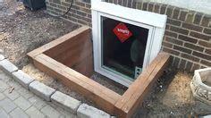 egress windows timber on basement