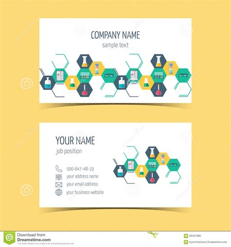card products business cards for chemical and scientific companies