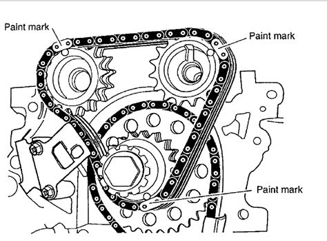 where can i find a diagram for the timing chain setup for