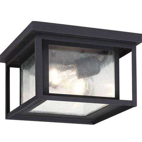 Outdoor Porch Ceiling Light Fixtures Sea Gull Lighting Hunnington 2 Light Outdoor Black Hanging Ceiling Pendant Fixture 78027 12