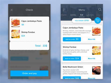 ui layout resizer east food menu ui uplabs
