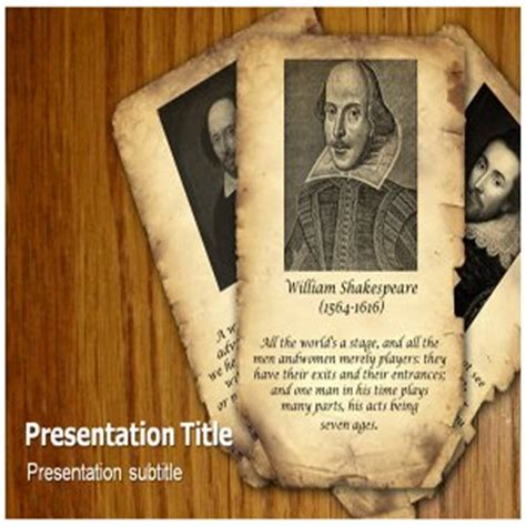shakespeare powerpoint template william shakespeare powerpoint templates