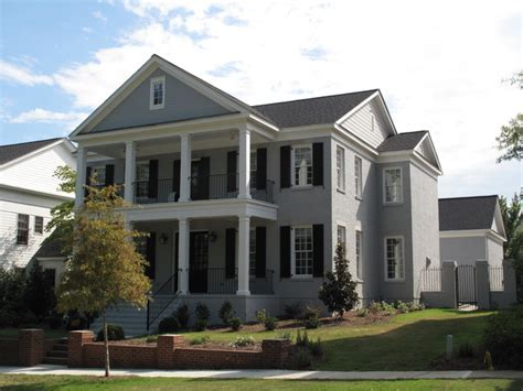 fowler home design inc double front porch estate traditional exterior