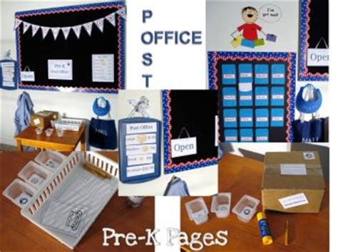 to play at an office post office play printables