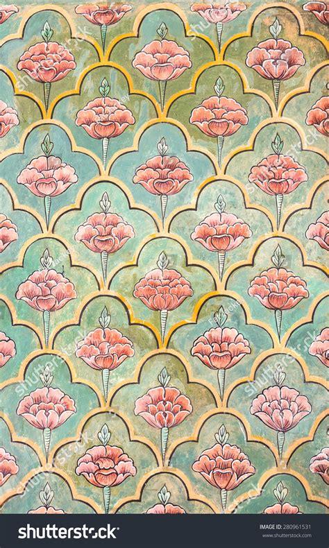 Music Wall Mural mughal wall paintings jaipur city palace stock photo