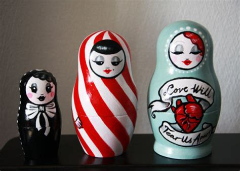 russian nesting doll tattoo babushka doll on