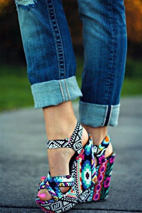 pattern colorful heels winonna bright multi color steve madden wedge sandal