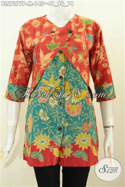 Harga Rompi Batik by Jual Blus Batik Keren Berbahan Halus Desain