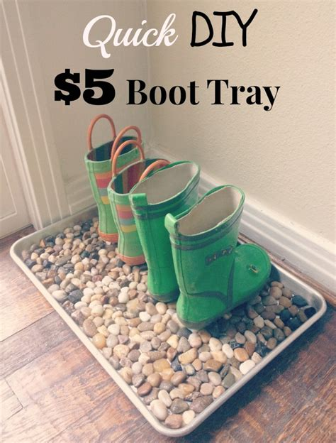 diy shoe tray 5 diy boot tray