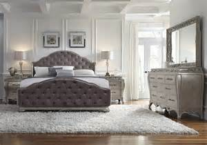 rhianna glam style bedroom set by pulaski furniture home