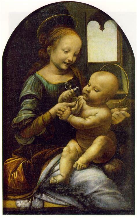 2 Paintings Of Leonardo Da Vinci by Leonardo Da Vinci Benois Madonna