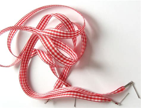 the shoelaces shop white gingham shoe laces ribbon