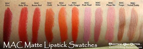 Lipstik N Y X 46 mac matte lipstick swatches makeup mac