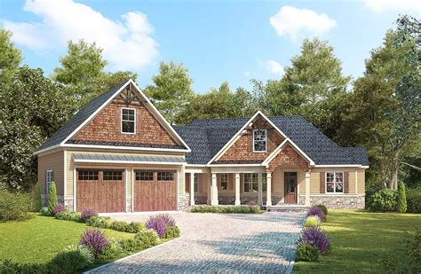 house plan designer craftsman with angled garage with bonus room above 36079dk architectural designs house plans