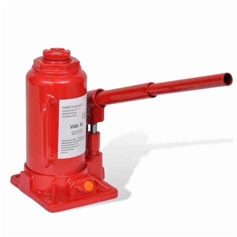 vidaXL.co.uk | 210258 Hydraulic Bottle Jack 12 Ton Red Car ... Hydraulic Car Bottle Jack