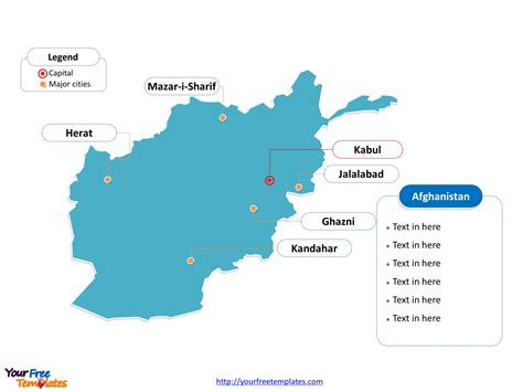 Afghanistan Country Map Outline by Free Afghanistan Editable Map Free Powerpoint Templates