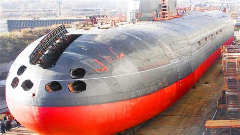 biggest navy boat in the world gigantic submarine of the world typhoon class russian