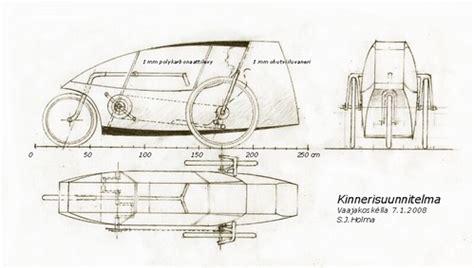 kinnerisuunnitelma   plan   wooden velomobile