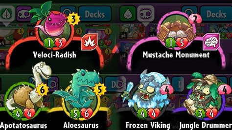Plants Vs 4 plants vs zombies heroes ability of set 4 cards
