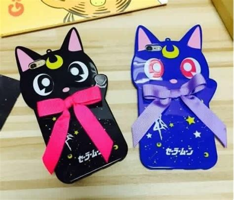 Iphone 6 Plus Soft Moon Free 2pcs Colour Flim 1 japan sailor moon bow cat soft tpu for