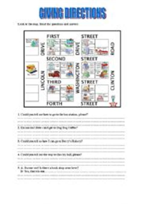 giving directions printable sheets giving directions worksheet new calendar template site
