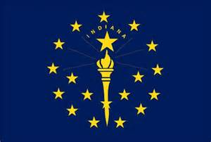 indiana colors state of indiana flag and map coloring pages