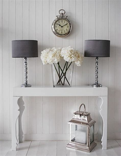 White Hallway Table 26 Interior Designs With White Console Tables Messagenote
