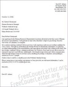 Cover Letter Exles For Human Resources by Human Resources Representative Cover Letter Sle