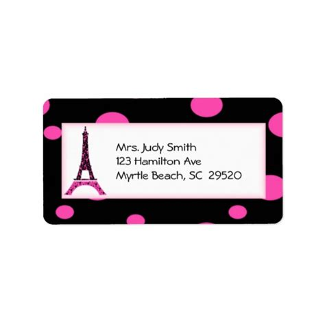 eiffel tower address eiffel tower address labels zazzle