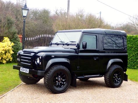 black land rover used santorini black land rover defender for sale essex