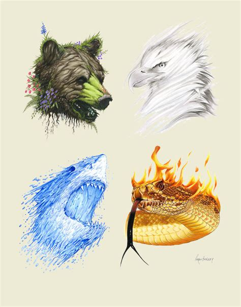 animal earth tattoo the four elements limited edition animal by