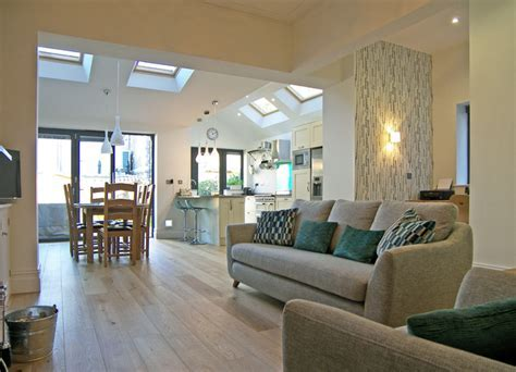 Open plan extension with office corner   Contemporary