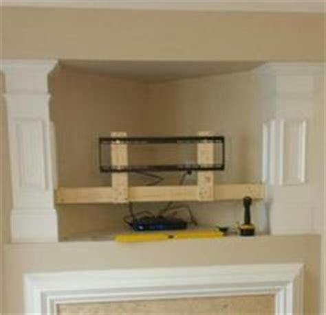 flat screen tv mounted fireplace my story how i eliminated my quot tv niche quot above the