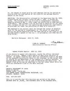 Unemployment Letter Of Appeal by Realscand Unemployment Appeal Decision