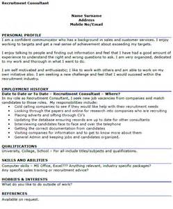 recruitment consultant cv exle cover letters and cv