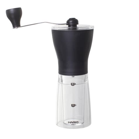 Hario Mini Mill Slim Coffee Grinder Mss 1b Hario Coffee Grinder Mini Mill Slim Cup From Above
