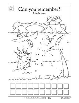 dot pattern math problem kindergarten preschool math worksheets dinosaur connect