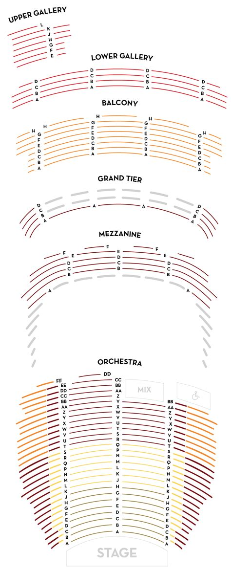 orpheum theatre boston seating chart seating chart orpheum theatre