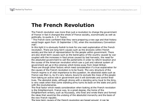 The Revolution Essay by Exle Of The Revolution Essay