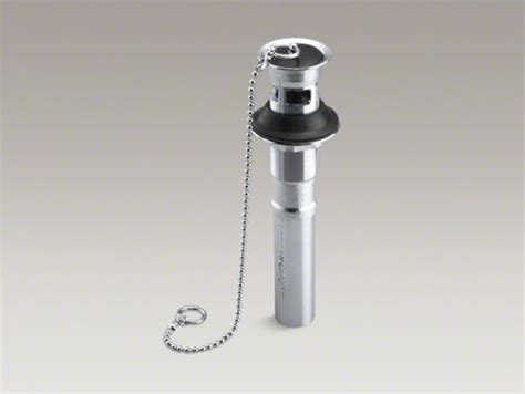 kohler bathroom sink stopper kohler bathroom sink drain with overflow and rubber stopper with chain contemporary