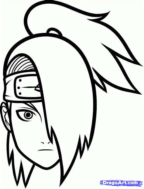 Easy To Draw by Draw Deidara Easy Step By Step Drawing Sheets Added By