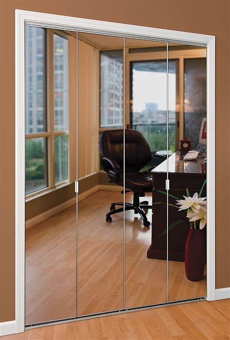 Mirror Bifold Closet Doors Series 1 Bifold Mirror Door Daiek Door Systems